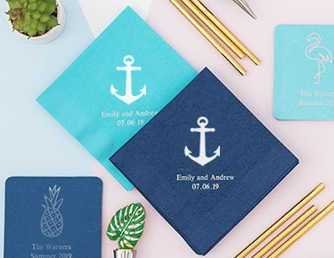 Popular Theme Designs Personalized Napkins