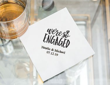 Engagement Personalized Napkins