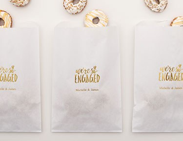 Engagement - Personalized Favor Bags