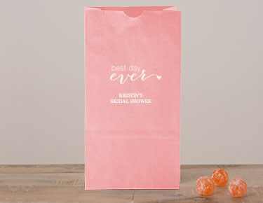 Bridal Shower – Personalized Gusset Favor Bags