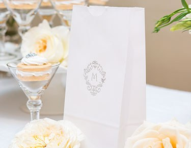 Monogram – Personalized Gusset Favor Bags