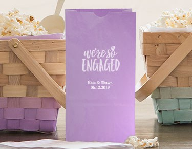Engagement – Personalized Gusset Favor Bags