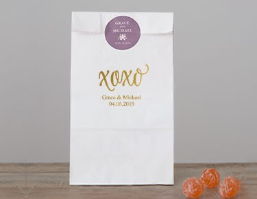 Trendy Wording - Personalized Gusset Favor Bags