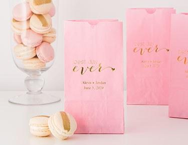 Stand-Up Personalized Paper Favor Bags