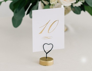 Table Numbers, Place Cards & Holders
