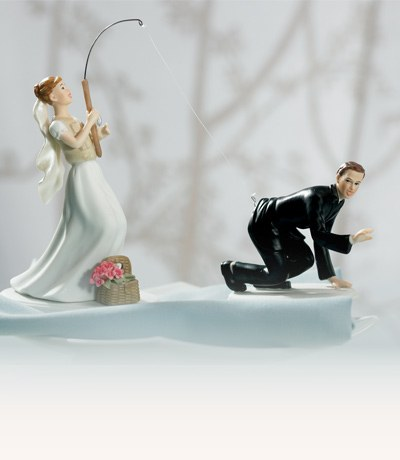 Funny Wedding Cake Toppers Humorous Cake Topper The Knot Shop