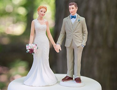 Bride & Groom Cake Toppers