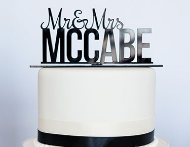 Personalized Acrylic Cake Toppers