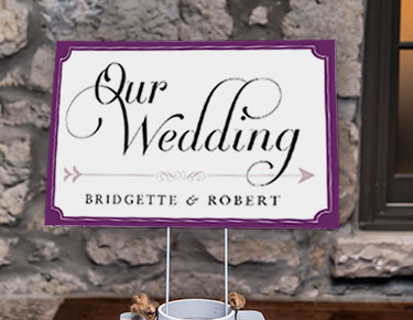 6d5924987a16 Personalised Wedding Signs  Welcome