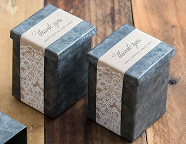Personalized Favor Box Wrappers