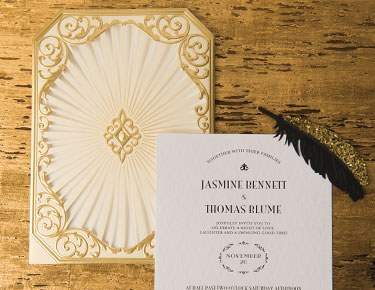 Laser-cut & Embossed Invitations