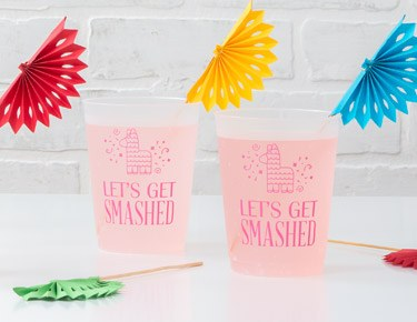 Frosted Plastic Party Cups