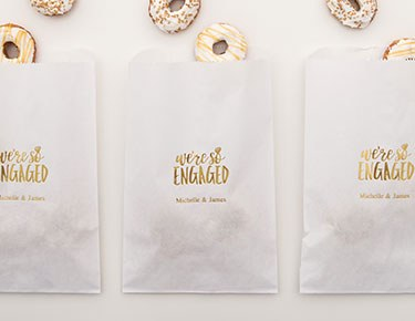 Flat Personalized Paper Favor Bags