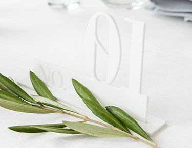 Acrylic Laser Cut Table Numbers