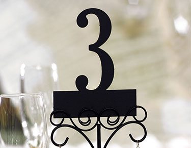 Paper Laser Cut Table Numbers