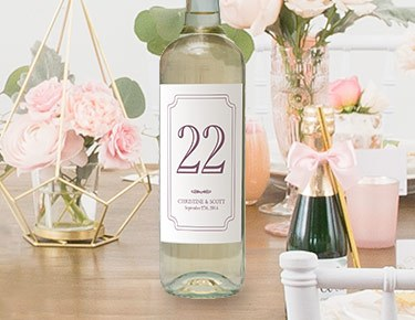 Wine Bottle Table Numbers