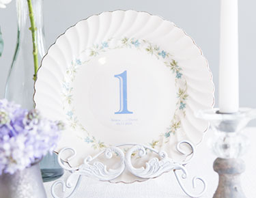 Personalized Cling Table Numbers