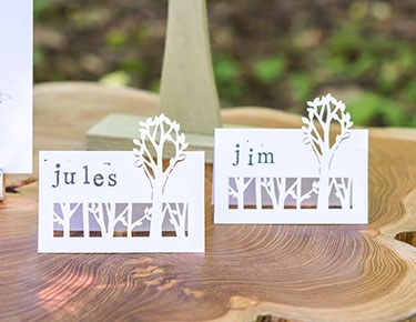 laser place cards - Wedding Place Cards