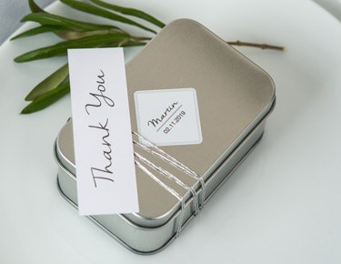 Metal & Tin Favor Containers