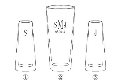 Initials Engraving Information