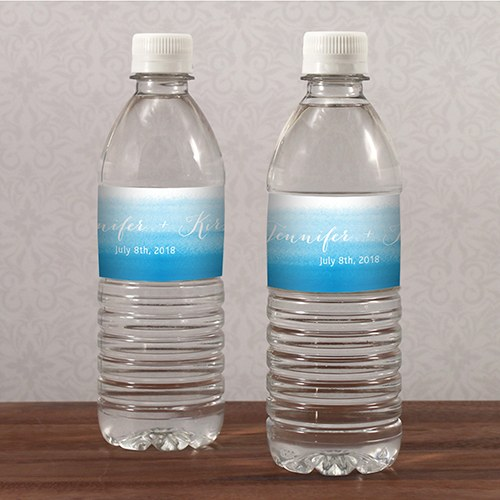 Aqueous Water Bottle Label