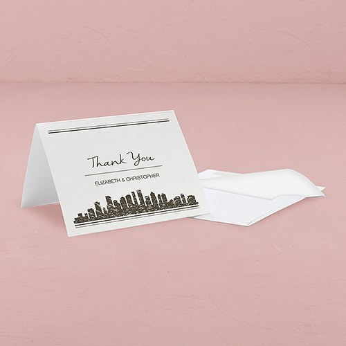 City Style Thank You Card With Fold
