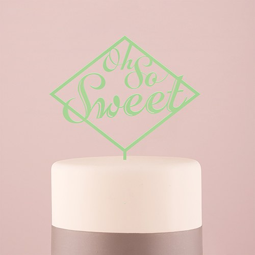 Oh So Sweet Acrylic Cake Topper   Daiquiri Green