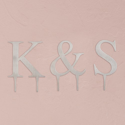 Monogram Wedding Cake Toppers Canada