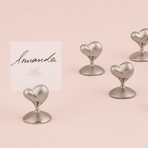 Swish Heart Place Card Holders