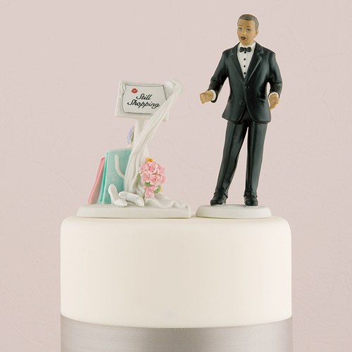 Still Shopping Message Board Mix and Match Wedding Cake Topper