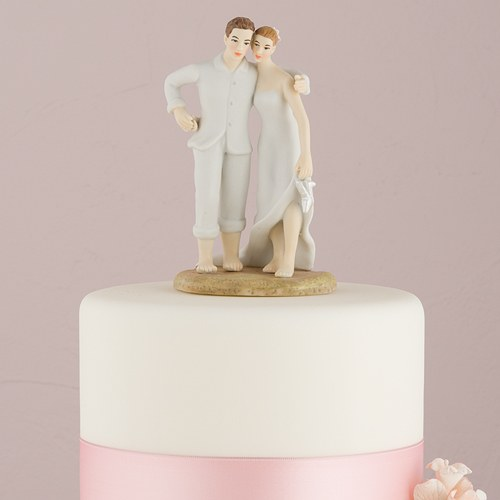 Beach Bride and Groom Wedding Cake Topper