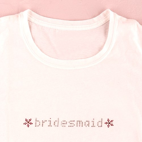 Bridesmaid Wedding Iron on Bridal Party Accessory