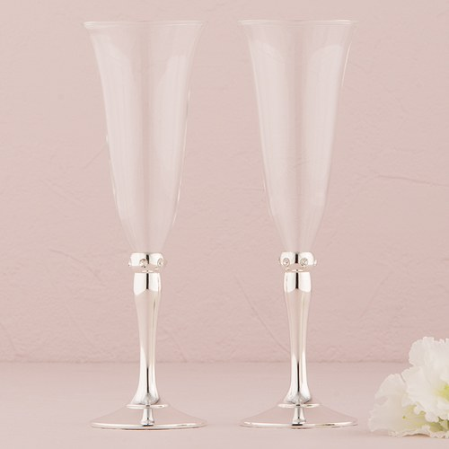 Silver Plated Stem With Crystals Goblets The Knot Shop
