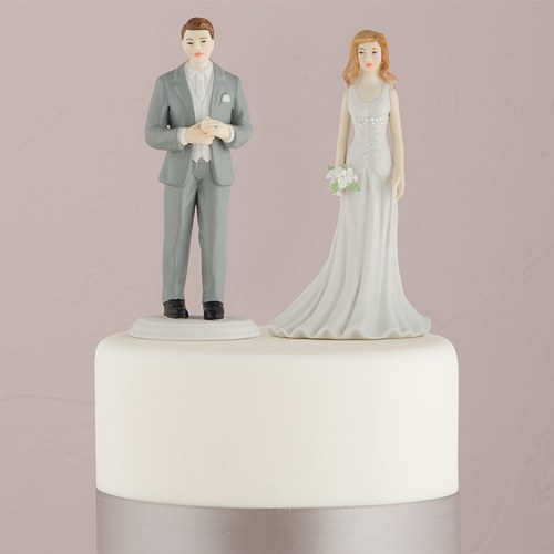 Fashionable Bride And Groom Mix & Match Cake Toppers ...