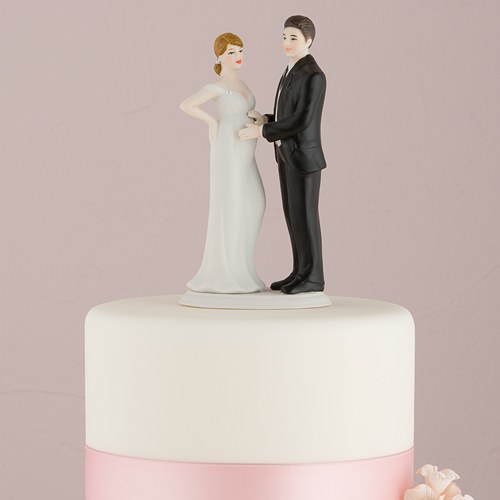 funny wedding cake toppers canada expecting bridal figurine the knot shop 14595