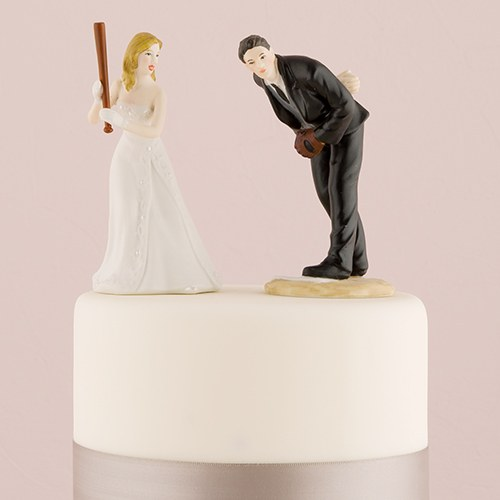 Baseball Wedding Cake Topper Hit a Home Run