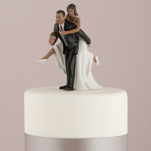 Football Wedding Cake Topper Blonde Bride