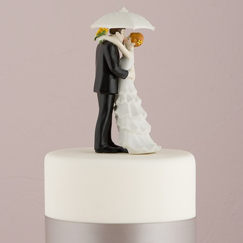 Showered with Love Couple Wedding Cake topper