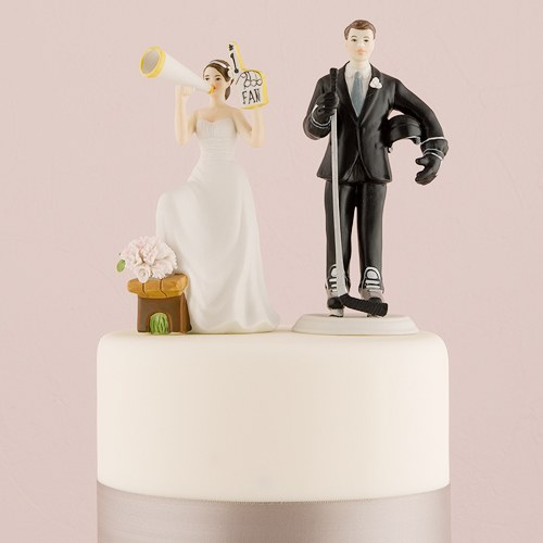 his biggest fan bride and groom cake topper the knot shop