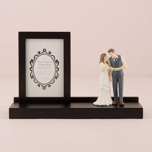 Wooden Wedding Keepsake Picture and Display Stand