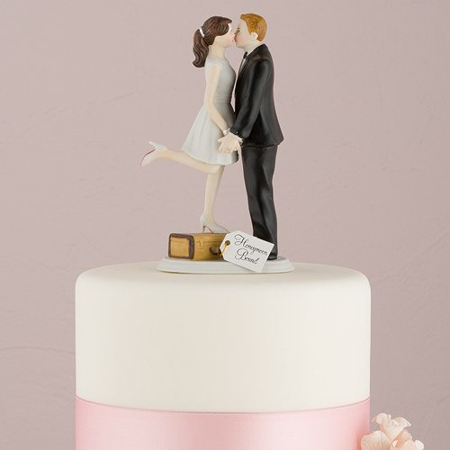skin tones bride and groom cake toppers custom hair colors available