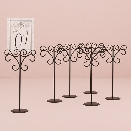 Matte Black Tall Wire Stationary Holders Sign Holders