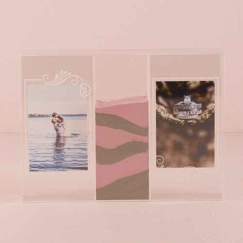 Quot Clearly Love Quot Sand Ceremony Shadow Box With Photo Frames