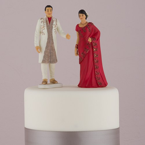 2fada60472 Traditional Indian Bride & Groom Wedding Cake Topper - The Knot Shop