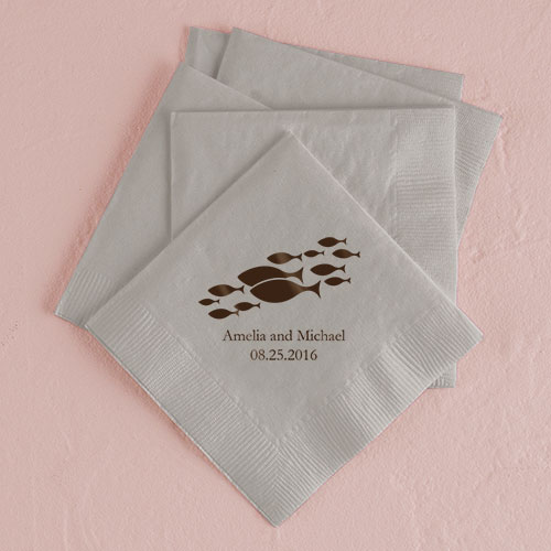 Of all the fish in the sea printed napkins the knot shop for All the fish in the sea