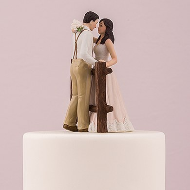 rustic wedding cake toppers canada rustic porcelain figurine wedding cake topper the 19582