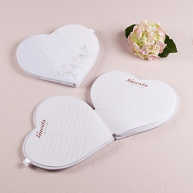 Floral Fantasy Heart Shaped Guest Book The Knot Shop