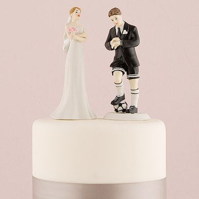 soccer player wedding cake toppers soccer player groom cake topper the knot shop 20273