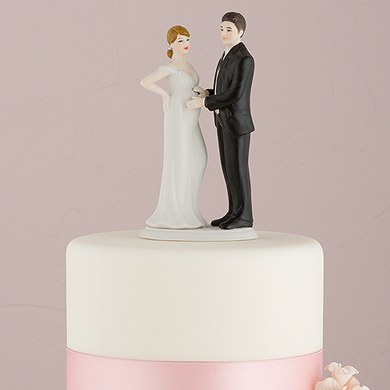 wedding cake topper pregnant bride expecting bridal figurine the knot shop 26372
