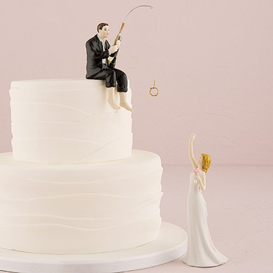 hooked on love wedding cake topper quot hooked on quot groom figurine confetti co uk 15312
